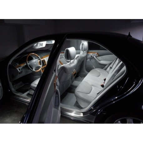 set 18 ampoule led interieur exterieur mercedes w211 classe e 2002 a 2009 mtec. Black Bedroom Furniture Sets. Home Design Ideas