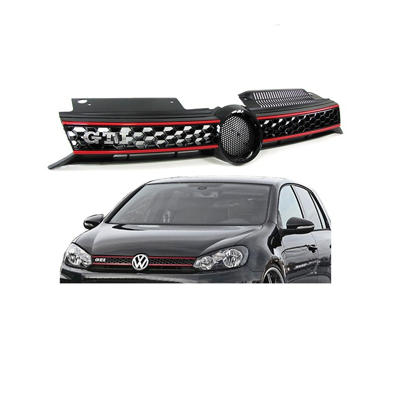 calandre vw golf 6 gti avec sigle gti fournit mtec. Black Bedroom Furniture Sets. Home Design Ideas