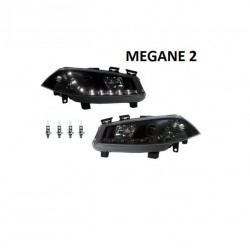 2 FEUX PHARE AVANT CONDUCTEUR + PASSAGER RENAULT MEGANE 2 PHASE 1 2002-2006
