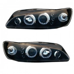 2 PHARE FEUX AVANT ANGEL EYES ET CANONS LED PEUGEOT 306 PHASE 2 ET 3 DE 1997 A 2001