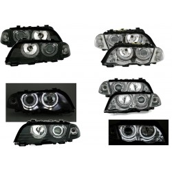 2 FEUX PHARE AVANT ANGEL EYES POUR BMW E46 BERLINE PHASE 1