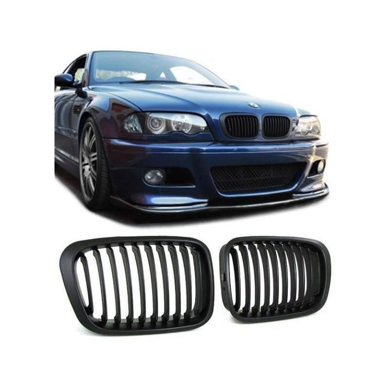 2 grille de calandre bmw serie 3 e46 mtec. Black Bedroom Furniture Sets. Home Design Ideas